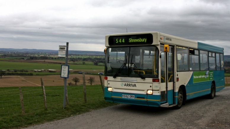 A bus at a bus stop
